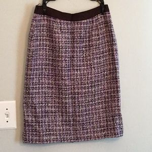 Kate Spade size 10 purple and brown pencil skirt